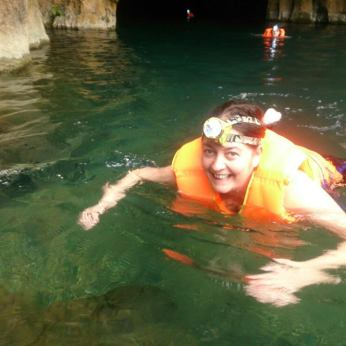 Swimming out of the cave