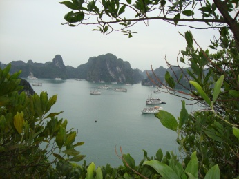 The view from the top of Titop island
